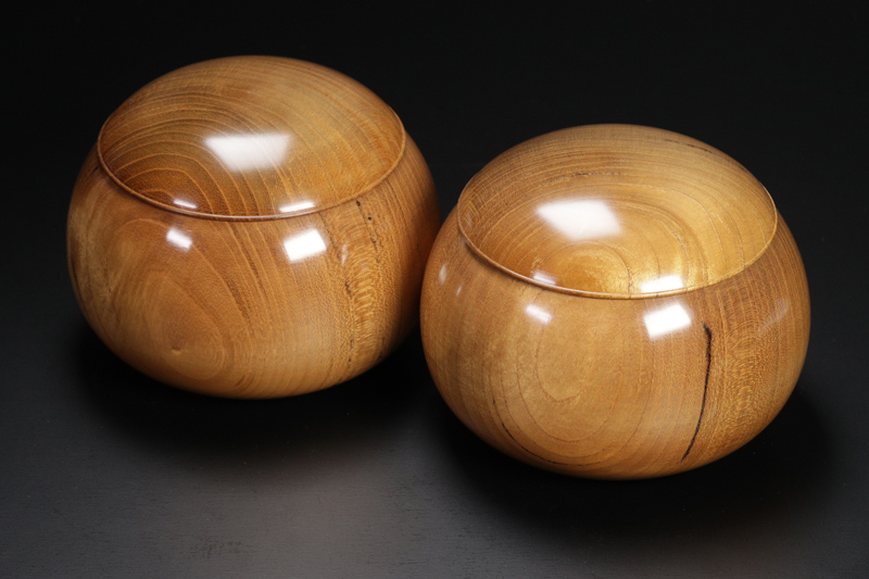Shimakuwa [Mikura Island mulberry], Go Bowls For 30-35 stones, XL