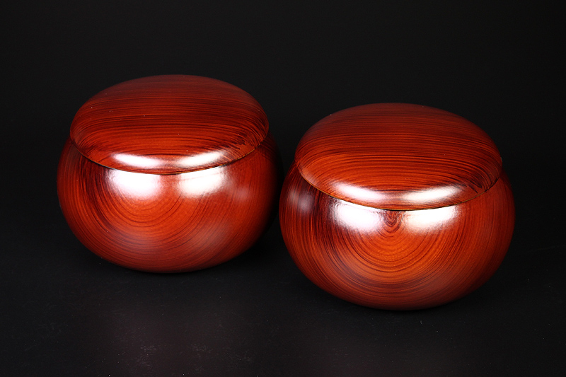 Urea Resin (woody design) Go bowls For -32 stones
