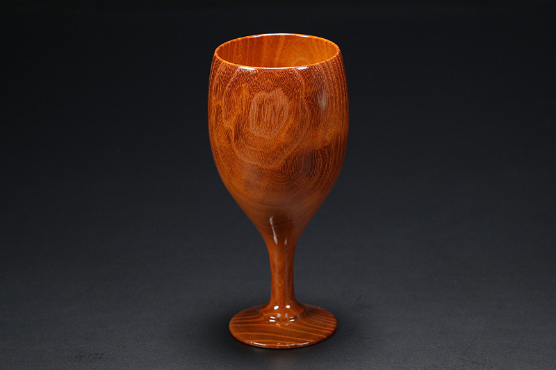 Wine glasses made from Kuwa (mulberry wood) -NSWKU-001