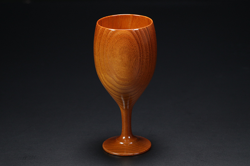 Wine glasses made from Kuwa (mulberry wood) -NSWKU-002