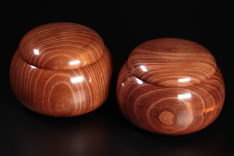 Honkuwa [Mountain mulberry] Go Bowls For -34 stones, XL -KWG-34-M01