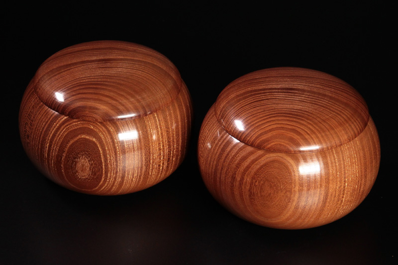 Honkuwa [Mountain mulberry] Go Bowls For -38 stones, XL -KWG-38-MR01 Repaired