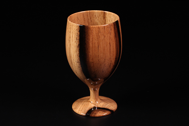 Wine glasses made from Kuro-kaki (NSWKG-001)