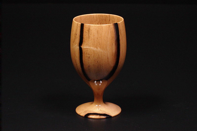 Wine glasses made from Kuro-kaki (NSWKG-003)