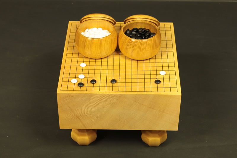 Miniature Go Board Set 12mm diameter stones