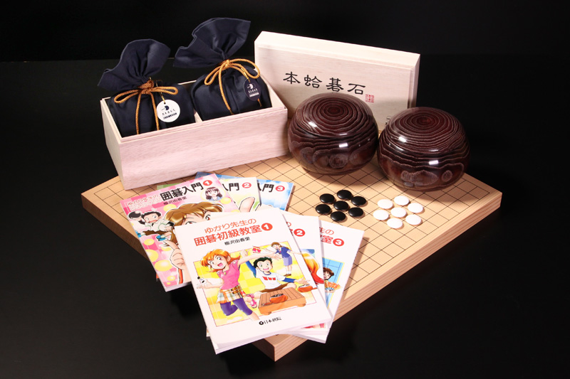 BLUE LABEL size22, Kuri Go Bowls, New Kaya Table Board10, Total 6 booklets for beginners.