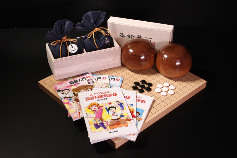 BLUE LABEL size22, Sakura Go Bowls, New Kaya Table Board10, Total 6 booklets for beginners.
