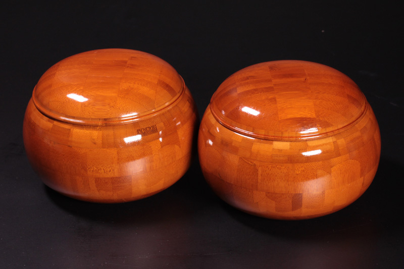 Bamboo Go bowls For -36 stones