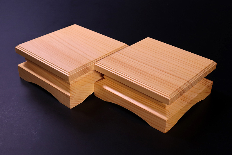For 2-sun (6cm-thick) Table Shogi Board Piece stand , Hyuga Kaya made *KMD-HKTK-001