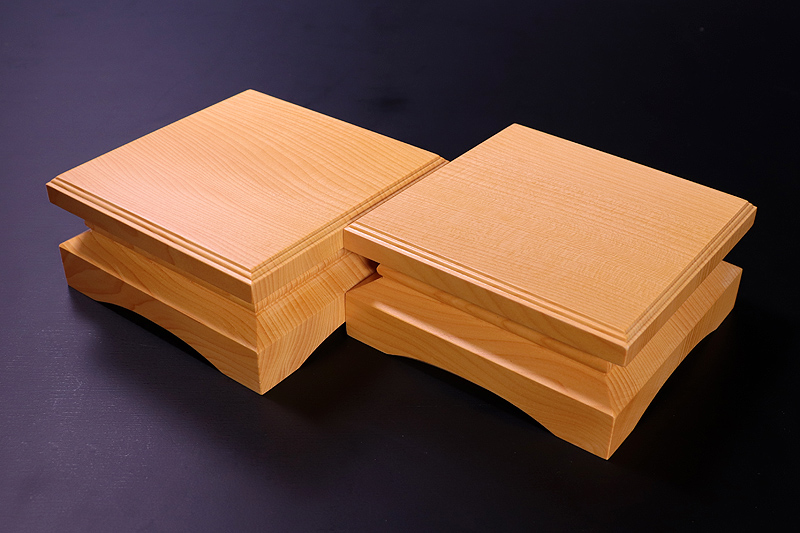 For 2-sun (6cm-thick) Table Shogi Board Piece stand , Hyuga Kaya made *KMD-HKTK-002