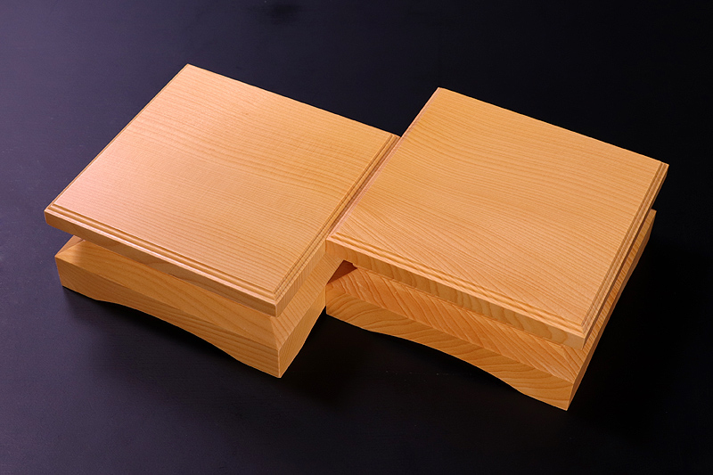 For 2-sun (6cm-thick) Table Shogi Board Piece stand , Hyuga Kaya made *KMD-HKTK-003
