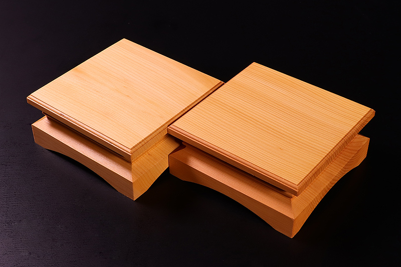 Piece stand for 2-sun (6cm-thick) Table Shogi Board , Hyuga Kaya made