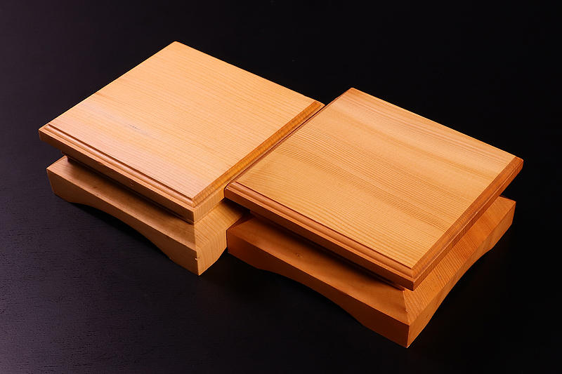Piece stand for 2-sun (6cm-thick) Table Shogi Board , Hyuga Kaya made *Off-spec