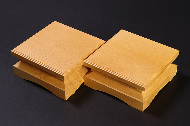 Piece stand for 2-sun (6cm-thick) Table Shogi Board , Hyuga Kaya made Decorative carving