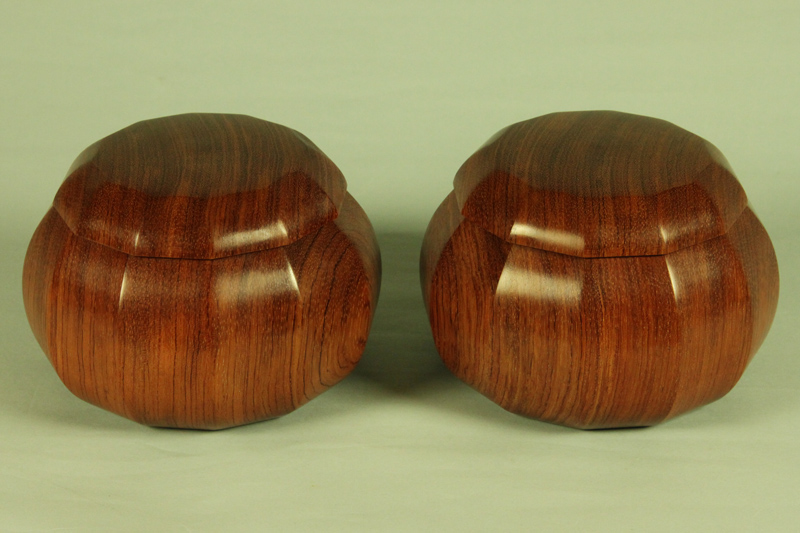 Karin (Chinese quince) Dodecagonal Go Bowls For 36-42 stones, XXL