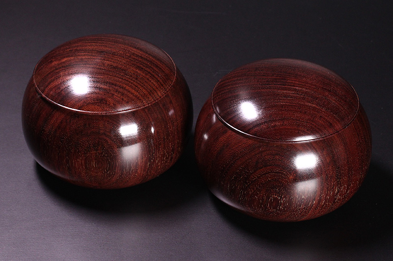 Rose wood (red sandal wood) Go Bowls For -38 stones, XL -RSG-38-708