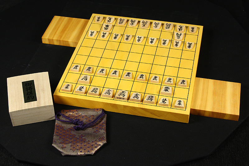 Japan-grown Hon Kaya Table Shogi Board(24~30mm), Tsuge High carved