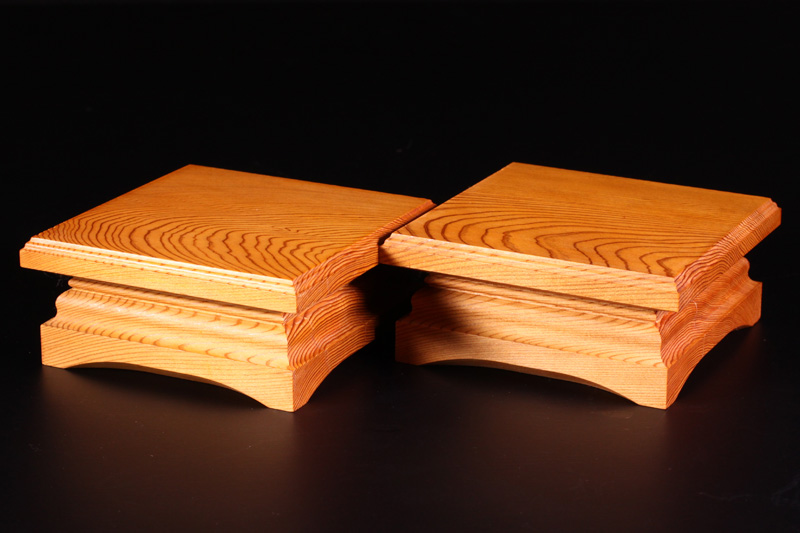 For 2.0sun Shogi Board Piece stand, Yakusugi, 1Pair Off-spec